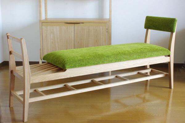 無垢材のベンチ inahono furniture