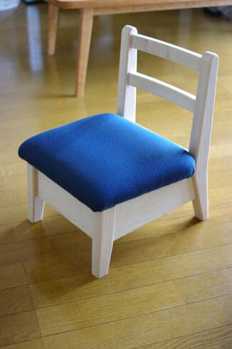 無垢材の子供椅子