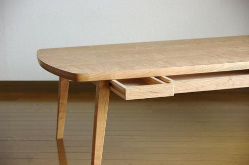 チェリー材のローテーブルテーブル