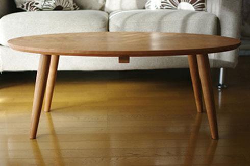 チェリー材のローテーブル