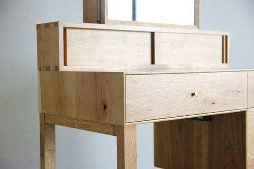 無垢材オーダー家具のドレッサー