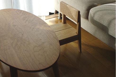 無垢材チェリーのカフェテーブル