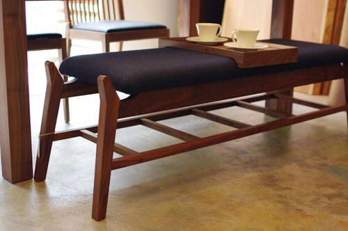 神奈川の無垢材家具 ベンチ