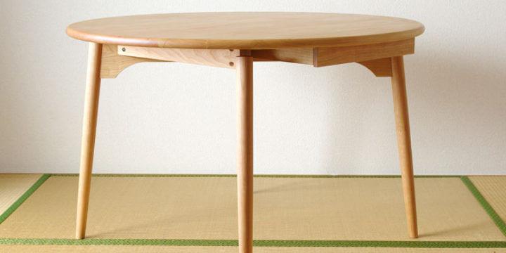 ianhono furnitureの無垢材丸テーブル
