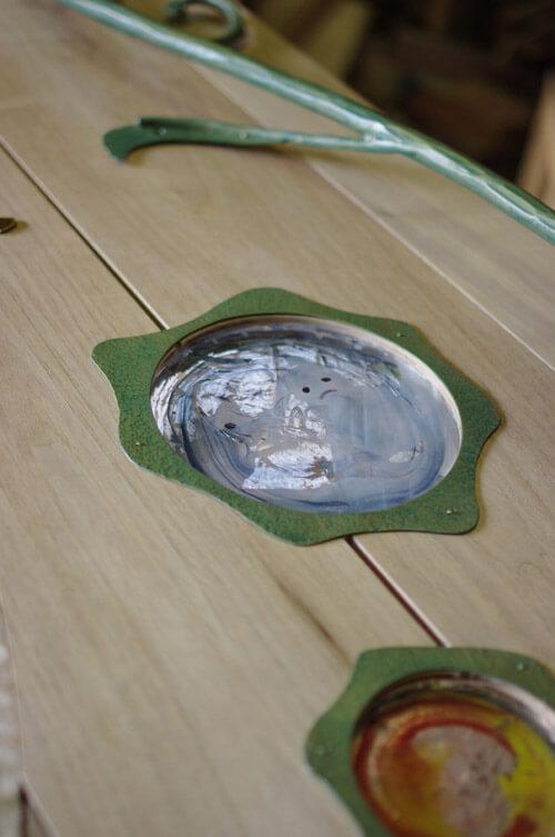 ガラスのサンドブラスト