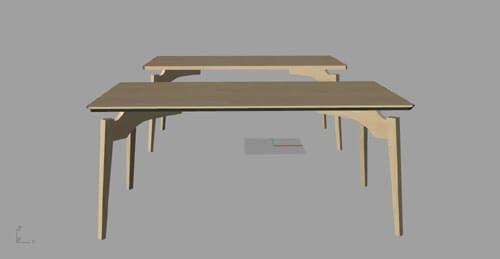 オーダー家具 CG案
