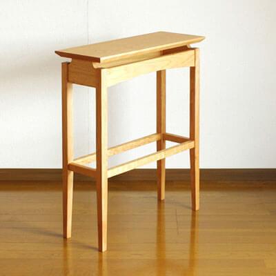 チェリー材のコンソールテーブル